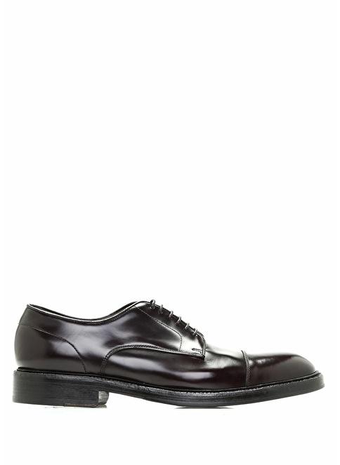 Green George %100 Deri Bağcıklı Klasik Ayakkabı Bordo